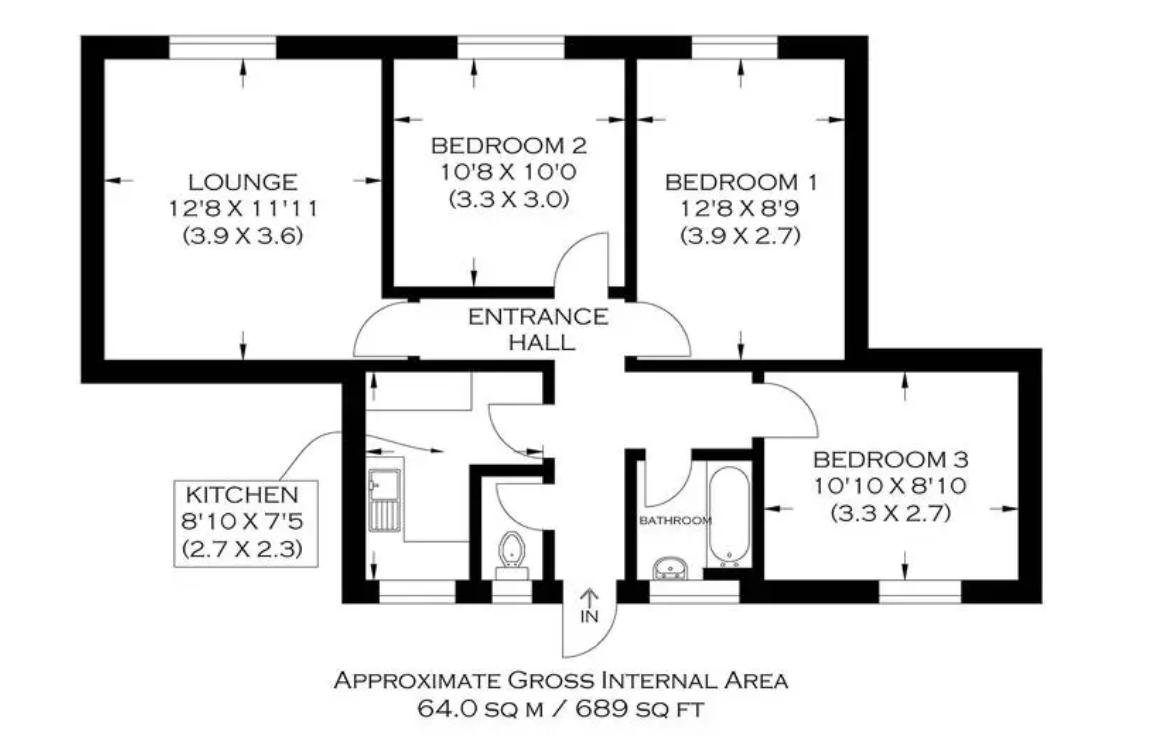 Floorplan of Munden House, Bromley High Street, Bow, London, E3 3BE