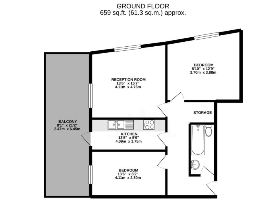 Floorplan of Peninsula Court, 121 East Ferry Road, Canary Wharf, London, E14 3LH